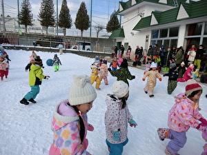 雪中運動会①