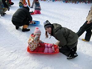 雪中運動会②